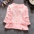 4 color 2016 new spring&autumn newborn infant girls cardigan cute bow baby girls coat o-neck kids clothes pink casaco infantil