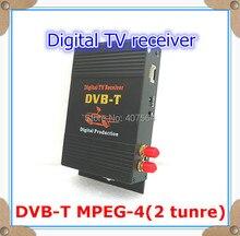 Car DVB-T DVBT MPEG-4 tuner Digital TV receiver box Dual Antenna for European, free shipping