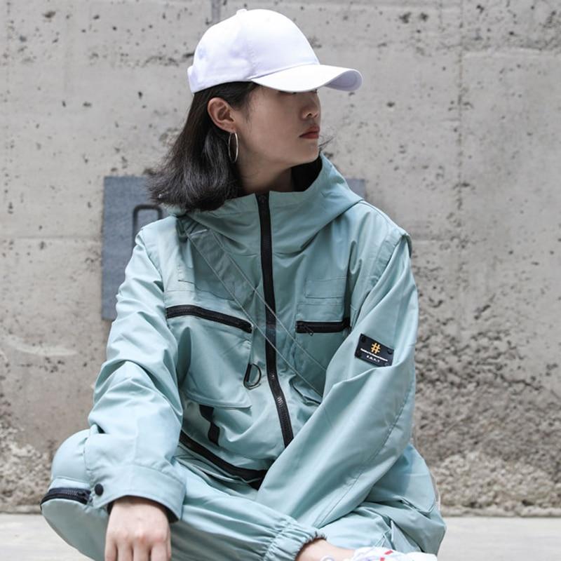 Lâche Veste See De Manches 2018 Couleur Stand Nouveau Manteau Collier Picture Corée see Mode xitao Ljt4490 Poche Femelle Complet Femmes Solor Automne Ljt4490 nqZgHA