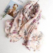 Hijab Scarf Dress Viscose Shawl Flamingo Beach-Top Tropical-Print Wholesales Women Ladies