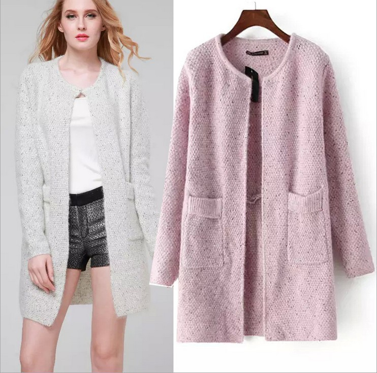 2019 Autumn And Winter New Women's Sweater Long Sweater Sweater Cardigan Thin Mohair Korean Cardigan