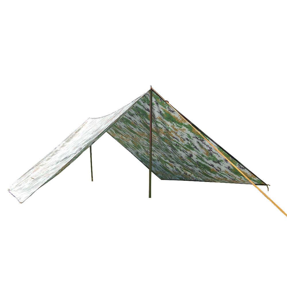 3 * 3m التمويه خيام التخييم مقاوم للماء التخييم حصيرة المظلة فراش الشمس المأوى في الهواء الطلق يندبروف شاطئ حصيرة ظلة خيمة