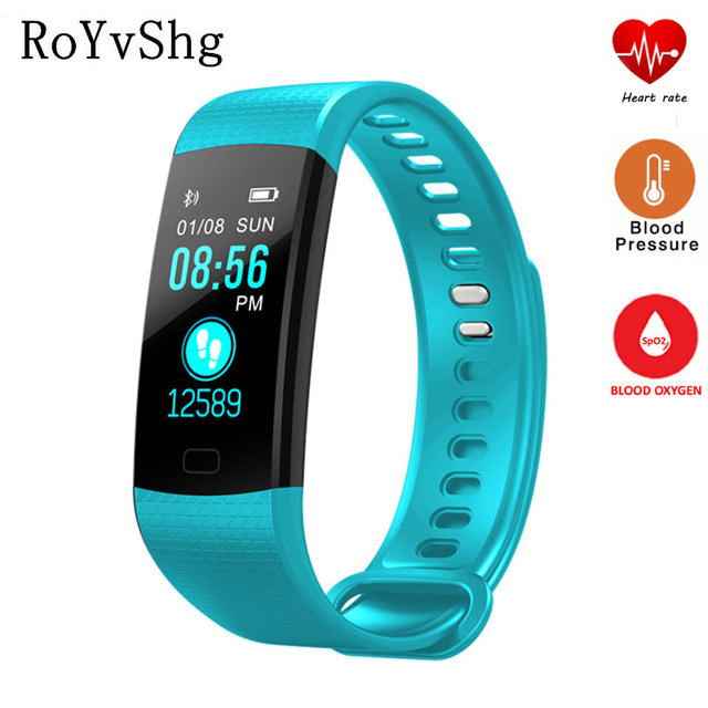 1f206bc4e18 Y5 smart band color display with heart rate blood pressure oxygen for xiaomi  mi band 2 honor band 3 relogio inteligente watch