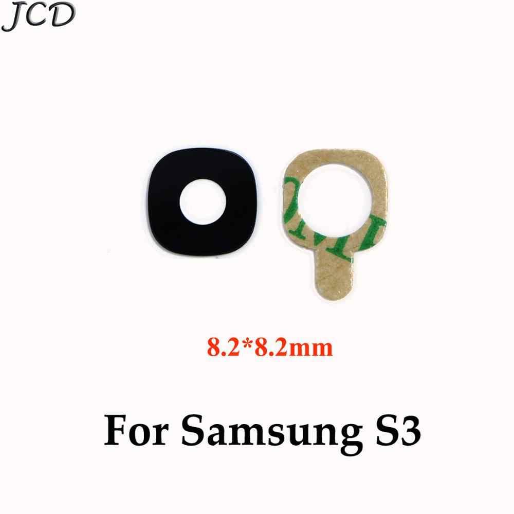 JCD عودة كاميرا زجاج حلقة غطاء عدسة لسامسونج غالاكسي S4 S5 S3 S6 S7 حافة زائد S8 s9 Plus مع ملصقا الهاتف إصلاح أجزاء