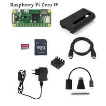 Raspberry Pi Zero/Zero W Starter Kit RPi Zero 1.3 Zero W Board +16G Card + Power Adapter +ABS Case + Heat Sink + 3 in 1 Adapter