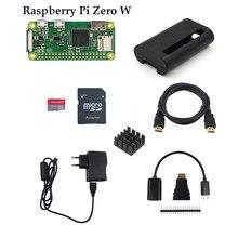 Raspberry pi zero/zero w starter kit rpi zero 1.3 zero w placa + 16g cartão adaptador de alimentação caso abs dissipador de calor 3 em 1 adaptador