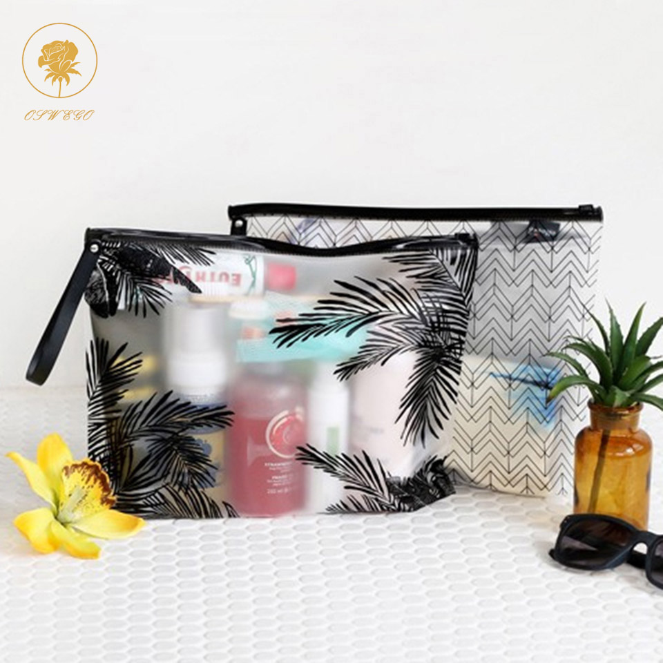 Oswego Cosmetic Bags Women Clear PVC Makeup Bag 20 Wire Swimwear Travel Organizer Necessary Beauty Case Bath Wash Make Up Box цена