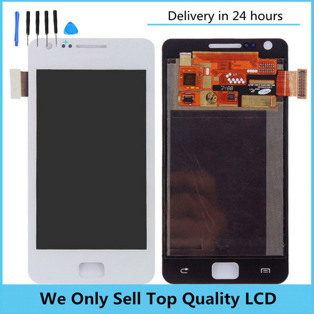 Original Replacement lcd for Samsung LCD Screen Touch LCD Assembly I9100 Screen Assembly S2 Display Free shipping with Track