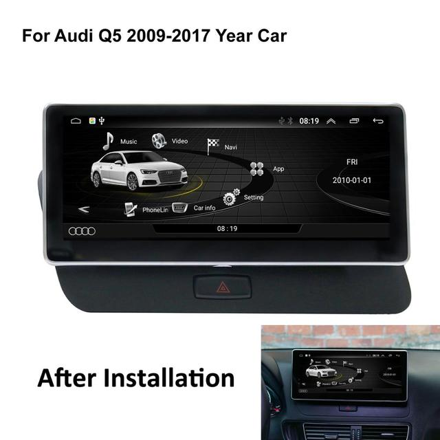 COIKA Android 6.0 System Car GPS Navi Receiver For Audi Q5 2009-2017 IPS Touch Screen Stereo BT WIFI Google 2+32G RAM BT SWC AUX