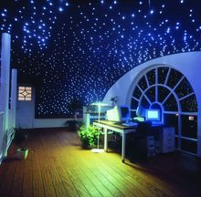 Maykit 50000h 12V DC 16W LED Starry Ceiling Kits Fiber Optic Decoration with 200pcs*0.75mm at 2 meter Fiber for Children' room