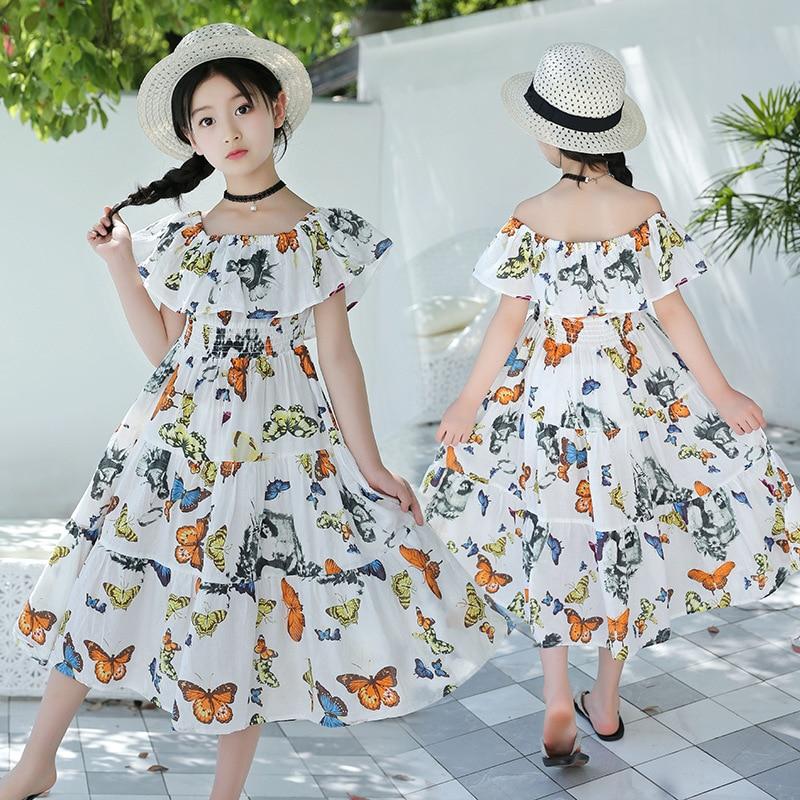 bohemian new 2019 summer dresses for teenage girls bow