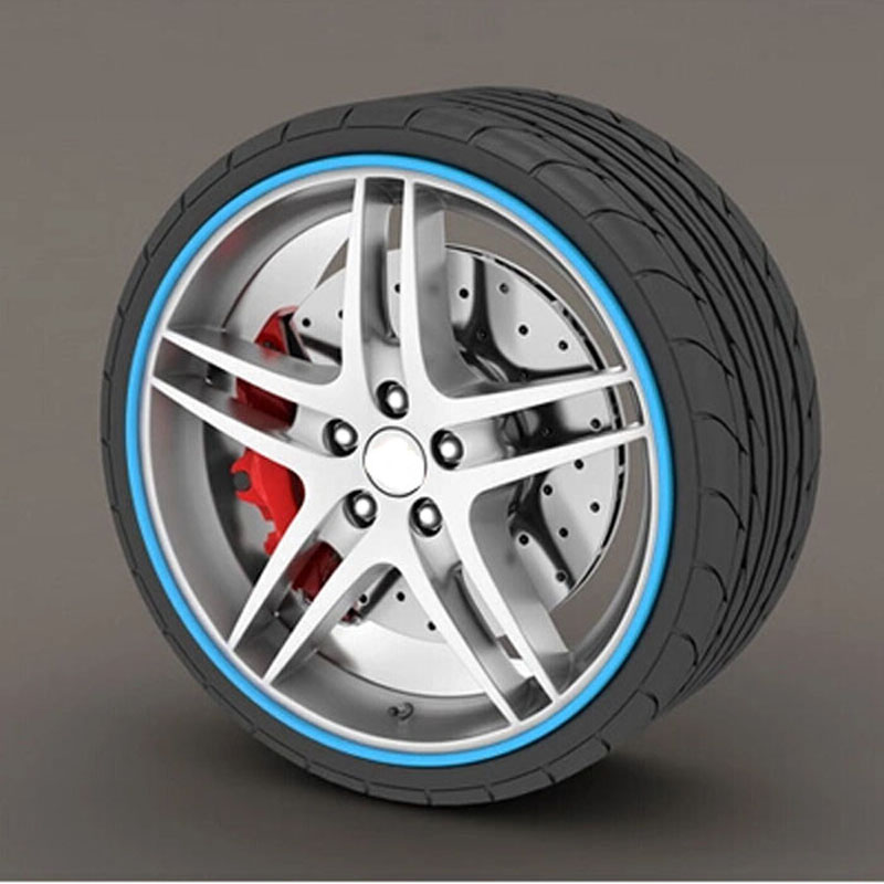 New 8M Roll Car-styling IPA Rimblades Car Vehicle Color Wheel Rims Protectors Decor Strip Tire Guard Line Rubber Moulding Trim image