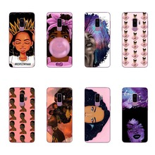 2bunz Melanin Poppin Aba Soft Silicone Phone Case for Samsung  S6 S7 EDGE S8 Plus NOTE 9 A8 2018 Fashion Black Girl Cover
