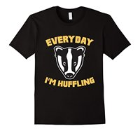 Everyday I'm Huffling Huffle Badger Cute Funny Animal Graphic T-Shirt T Shirts Casual Brand Clothing Cotton New 2017 Fashion Hot
