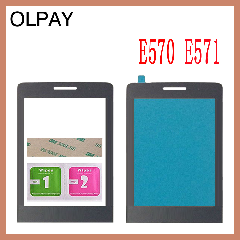 1PCS 100% New Original Front Glass Lens For Philips Xenium Philips E560 E570 E571 X623 X1560 X5500 Not Touch Screen