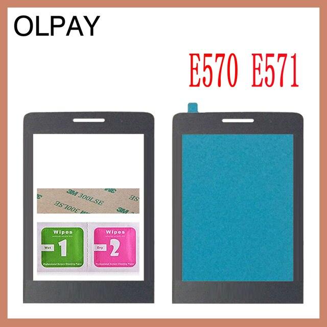 קדמי זכוכית עדשה עבור פיליפס Xenium פיליפס E560 CTE560 E570 E571 X1560 X5500 לא מגע מסך Digitizer על ידי משלוח חינם