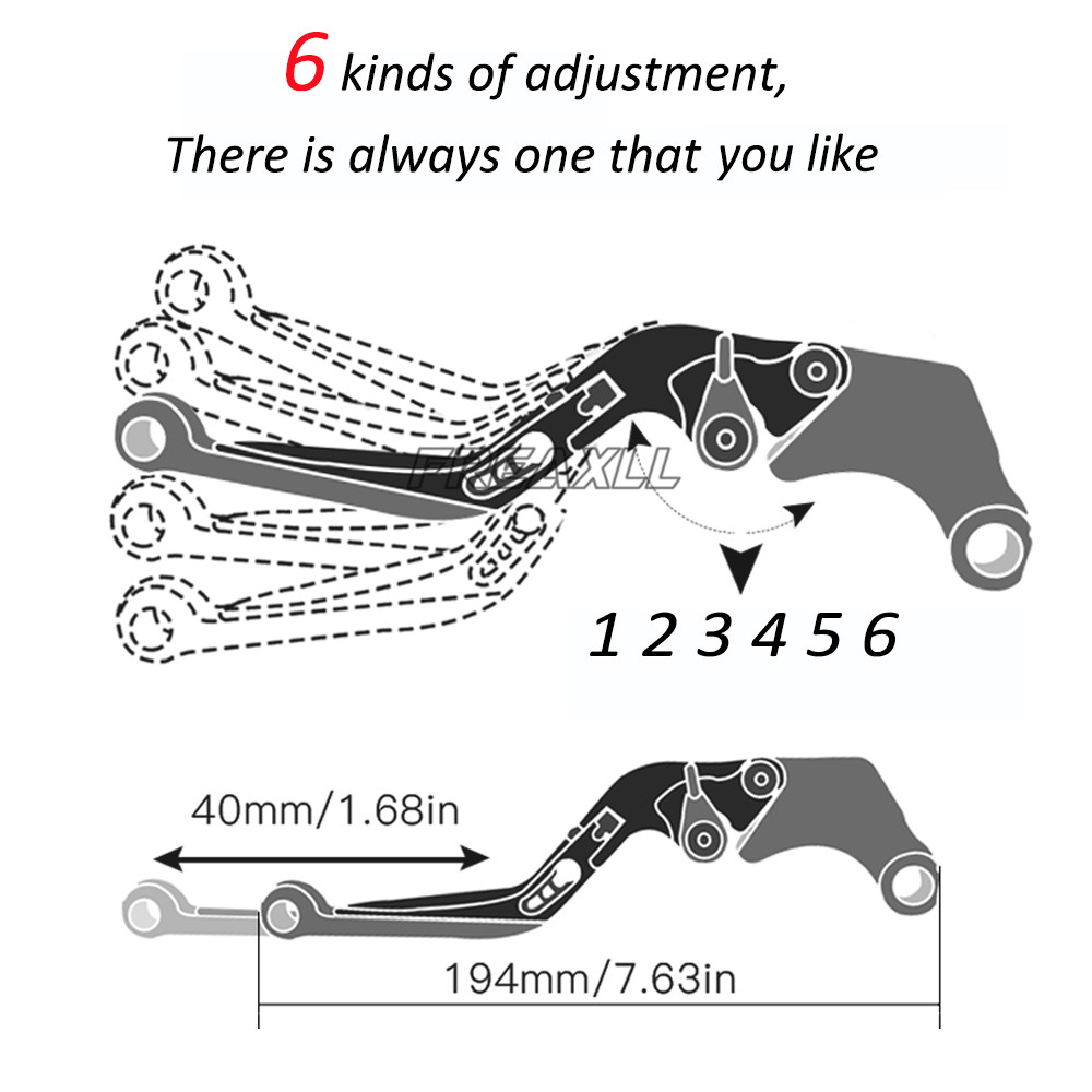 CNC Aluminum Motorbike Levers Motorcycle Brake Clutch Levers Foldable Extendable Adjustable For KTM 690 Duke SMC Enduro R SMC R in Levers Ropes Cables from Automobiles Motorcycles