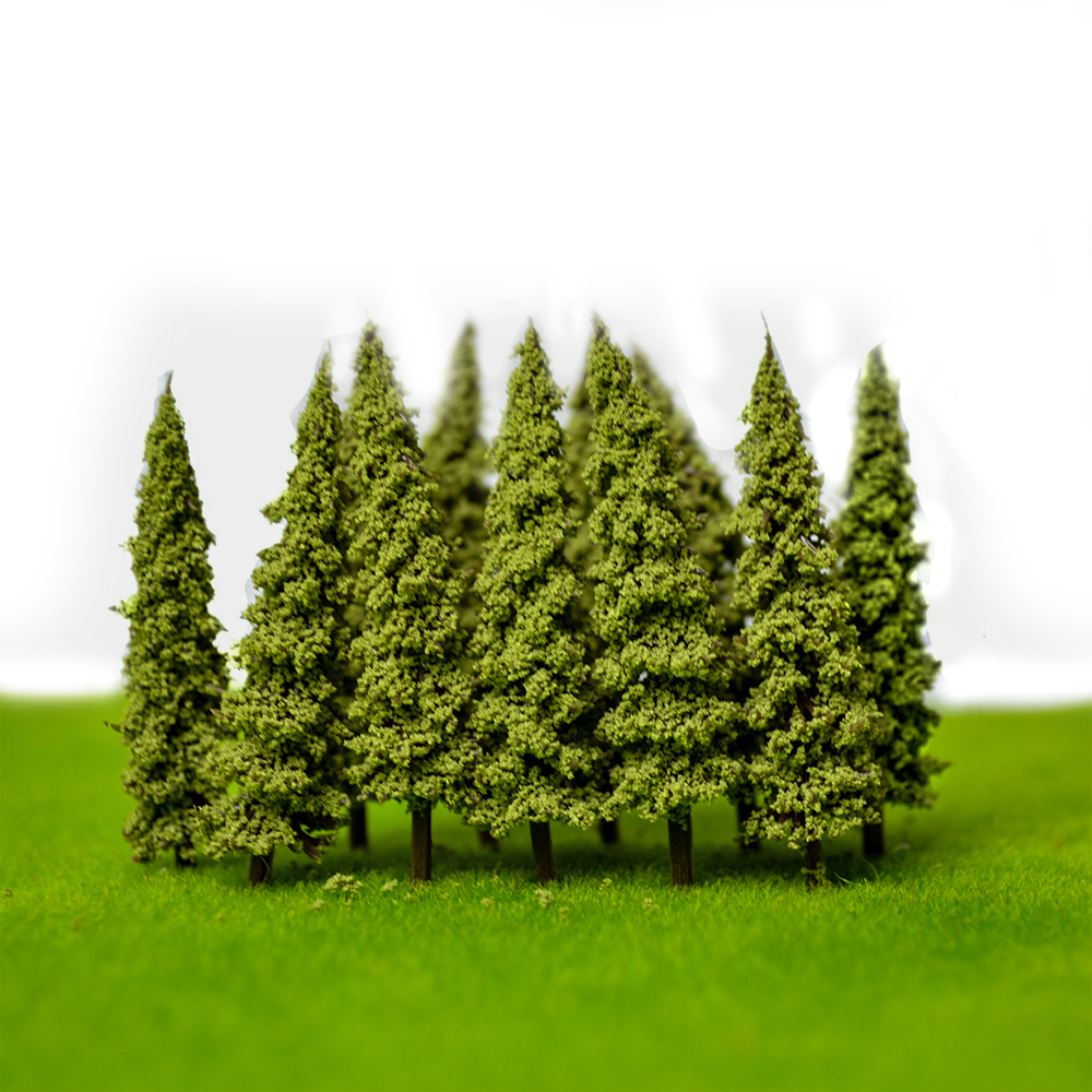 5.5cm 100pcs Artificial Model Trees For Architecture Railroad Landscape Train Sand Table Diorama Building Layout Toy ABS Plastic