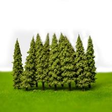 artificial Plastic 100Pcs/Set Architecture 5.5cm ABS plastic  mini scale model trees for railroad train layout