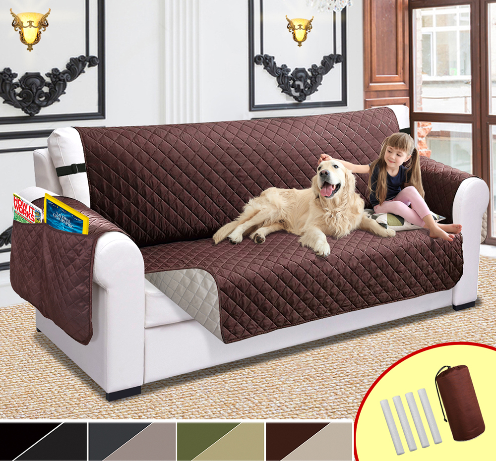 Best Sofa Upholstery For Pets: Sofa Cover For Pets Kids Protector Waterproof Stretch