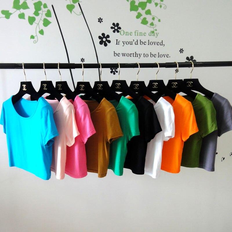 (20 Teile/los) Schöne Kurze ärmel Half-länge T Shirts Können Wählen Farben Om405 Um Eine Hohe Bewunderung Zu Gewinnen Und Wird Im In- Und Ausland Weithin Vertraut.
