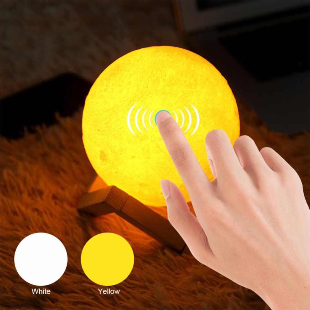 Usb Сенсорная прикроватная лампа 3d печать Лунная лампа светильник для спальни Романтический ночной Светильник Powerbank светодиодная энергосберегающая лампа