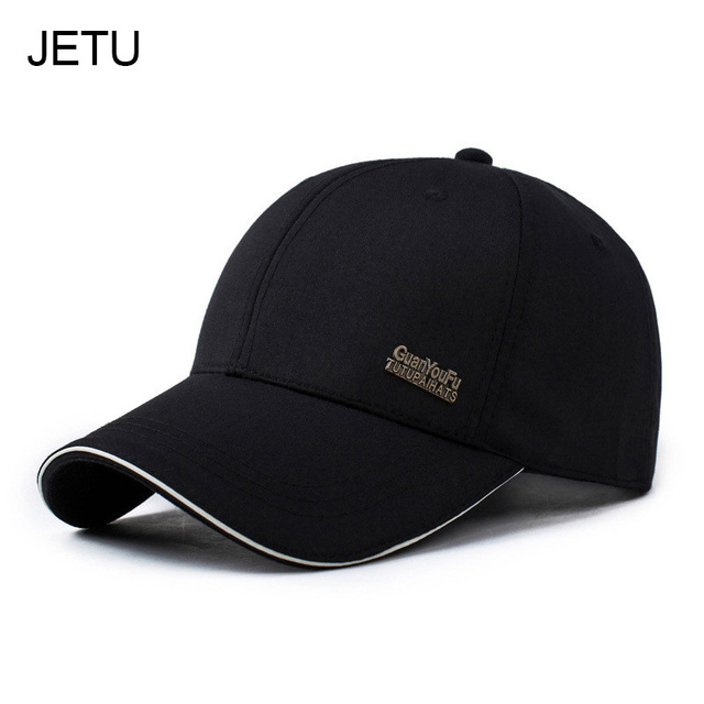 207ca14c9f9 Mens Spring Adjustable Cotton Fitted Baseball Caps Male Simple Black Formal  Snapback Dad Hat Fashion Breathable Truck Hats