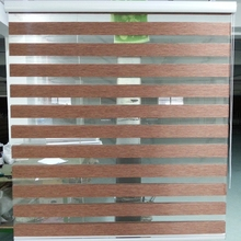 Horizontal Window Shade Blind Zebra Dual Roller Blinds Treatments Window Custom Cut to Size Brown Curtains