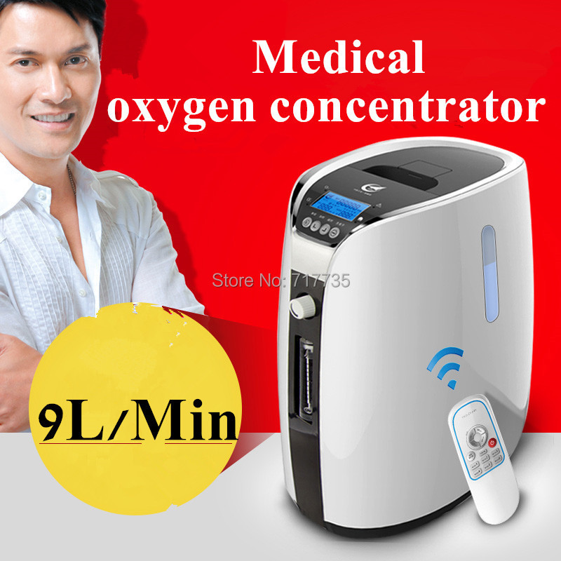 New Medical supplies 9LPM OXYGEN CONCENTRATOR GENERATOR 30%-90% adjustable 1-9L HOME Healthcare medical oxygen concentrator for respiratory diseases 110v 220v oxygen generator copd oxygen supplying machine