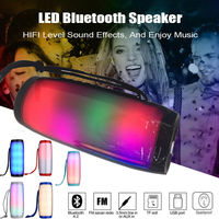 LED Colorful Light Bluetooth Speaker Stereo Wireless Portable HandFree Support TF FM USB Flash Subwoffer