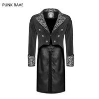 2018 Punk Rave Black Gothic Vintage Fashion Irregular Swallow Tail Palace Men's Coat Jacket Victorian WY947