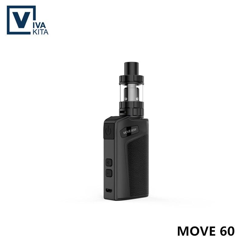 где купить original Vaptio Move 60w KIT Vape electronic cigarette battery built in 2100mAh vape box mod 60W VS iStick TC 60W Leak proof kit по лучшей цене