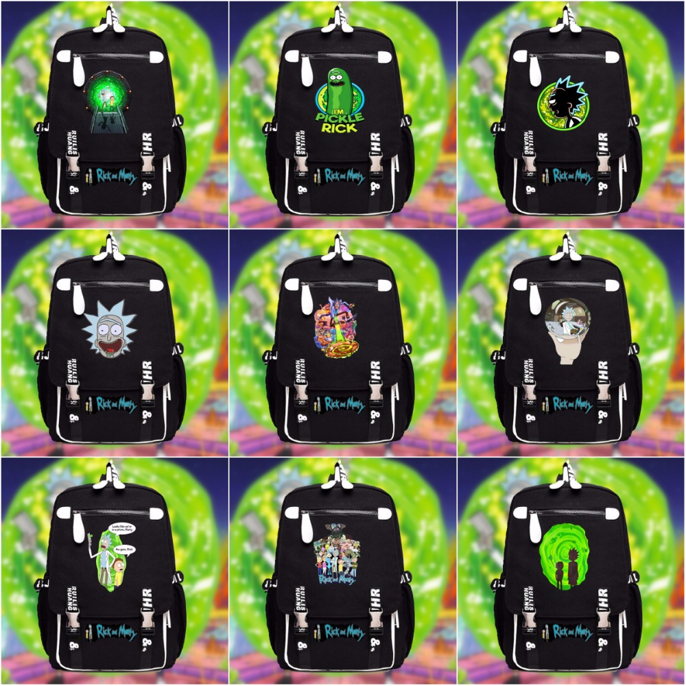 NEW Rick and Morty backpack schoolbag casual teenagers Men women's Student School Bags travel Shoulder bag package 15 style new fashion brand print double shoulder bag female han edition student schoolbag trend college travel backpack hot selling