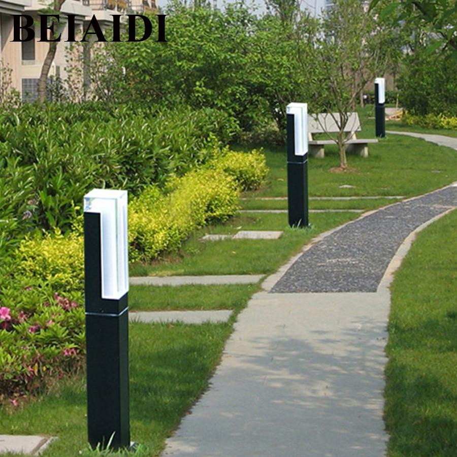 BEIAIDI Waterproof LED Garden Lawn Lamp Modern Aluminum Pillar Light Outdoor Courtyard villa landscape pole lawn bollards light ...