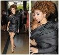 2016 Myriam Fares moda sin mangas del Bowknot de un hombro Red Carpet negro del vendaje de la celebridad ZY138