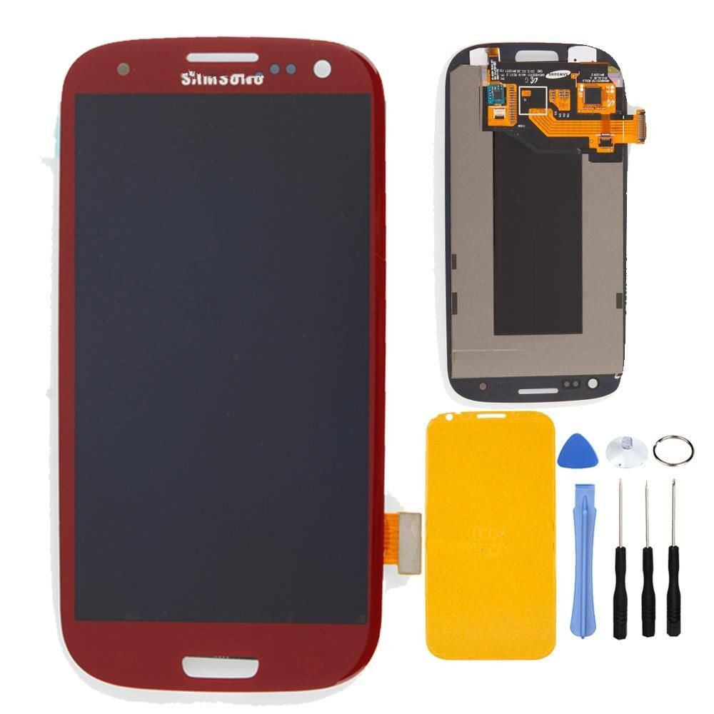 Red LCD with Digitizer Display Touch Screen Assembly Glass for Samsung Galaxy S3 i9300 i9305 i747 T999 i535