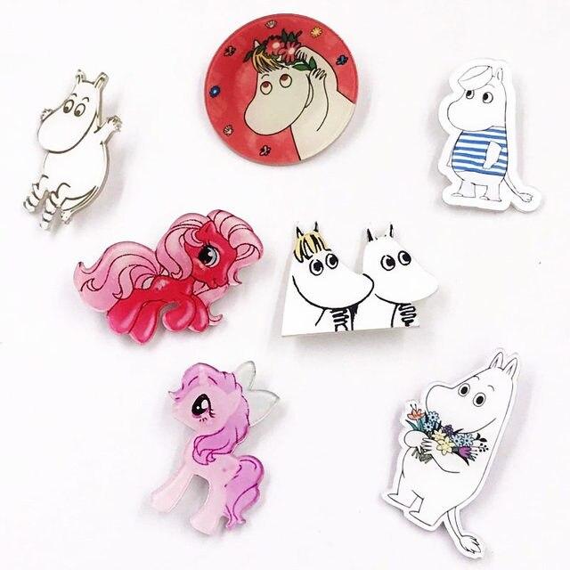 1 pz Bella Del Fumetto Unicorno Cavallo Icone Kawaii Icona Spilla Bacges Sullo Zaino Abbigliamento Distintivi e Simboli Scherza il Partito Del Regalo Spille spilli