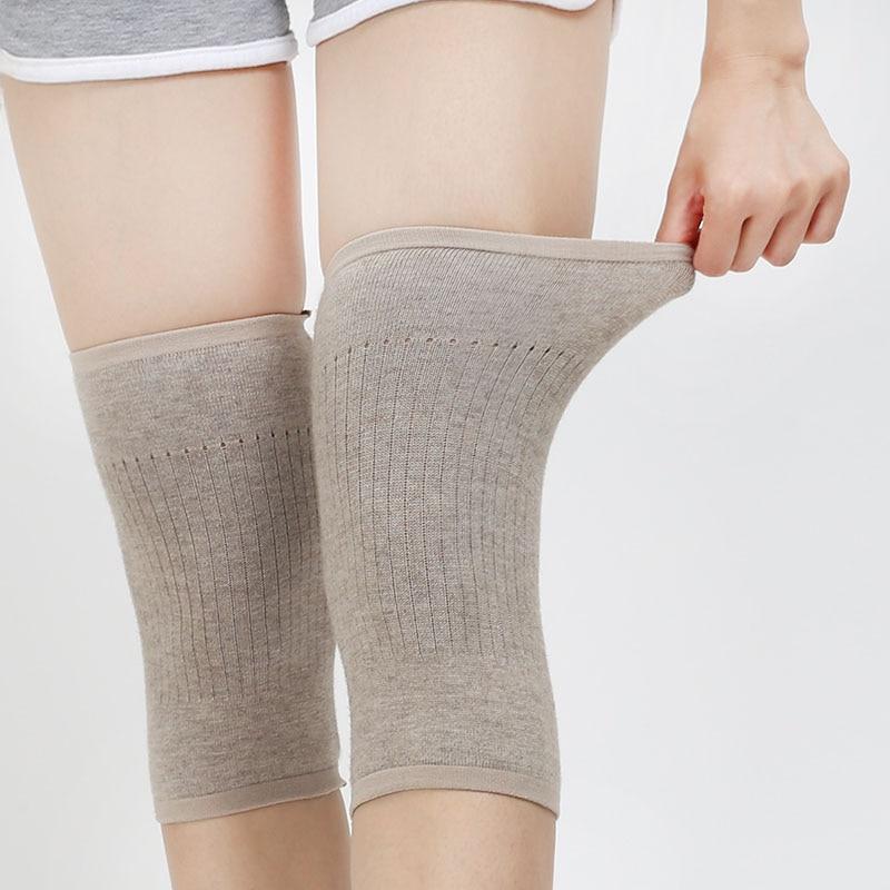 Women Wool Light Weight Warm Knee Sleeve Solid Winter Coldproof Warm Knees Wool Knitted High Kneecap Knee Protectors Leg Warmers