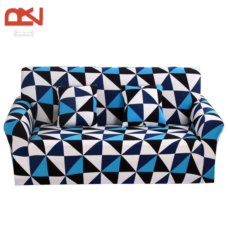 Sofa Cover Printing European Modern Stretch Cotton Fabric Furniture Covers  Protector Universal Corner Couch Sofa Covers