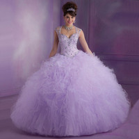Hot Pink Lilac Quninceanera gown 2018 Vestidos De 15 Anos Ruffles Sweetheart Crystals Beaded Debutante Gowns With Jacket