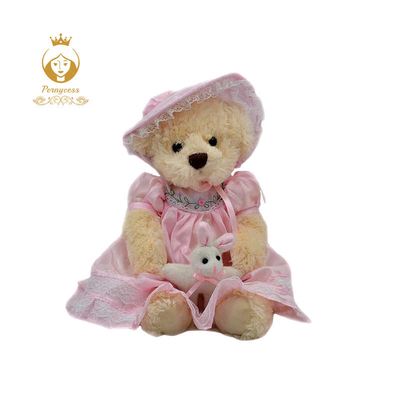 1 PCS 25 CENTÍMETROS bonito urso de pelúcia vestindo uma saia de pelúcia brinquedos de pelúcia, bonecos de pelúcia crianças role-playing, para enviar sua namorada um presente