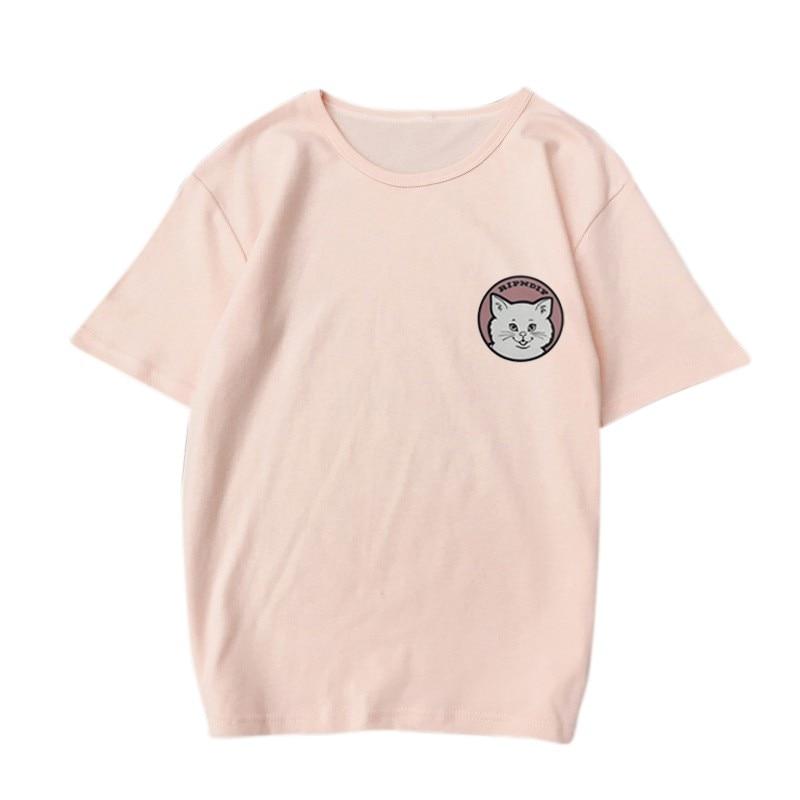 2018 կատու Cute շապիկով տպագրություն Plus - Կանացի հագուստ