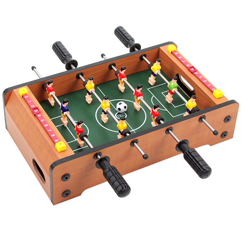 все цены на Mini Wooden Table Football Top Board Game Home Soccer Games Set Football Toy Gift For Boys TD0076