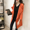 X2018 Xl- 5xl 2016 New Coat Female Spring Autumn Long Korean Loose Size Solid Cardigan Trench Coat For Women Open Stitch Solid