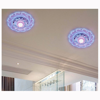 1 Purple Modern Crystal LEDs Saving Bright Ceiling Light Lamp Fixture Chandelier