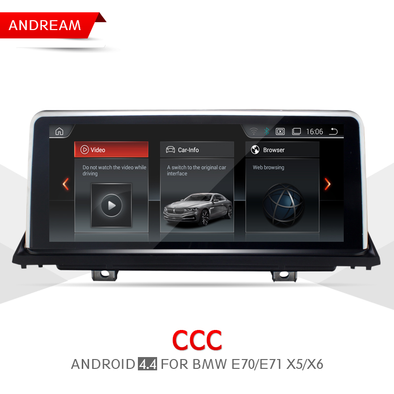 10.25 Quad Core Android Screen 4.4 Vehicle multimedia player For BMW E70 E71 X5 X6 Bluetooth gps navigation Wifi EW969A-CCC