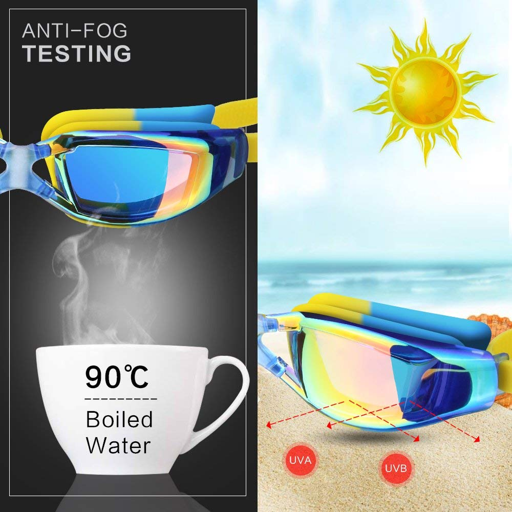 Kids Swimming Anti-Fog UV Protection Prescription Goggles Waterproof Glasses Goggle 4