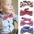 Baby Kid Boys Girls Toddler Infant Plaid Bowtie Adjustable Neckwear Unisex Wedding Party Bow Tie Necktie Bowtie Costume