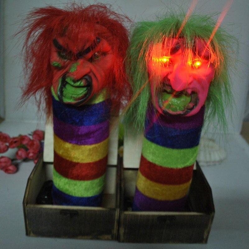 8f336908a34865 Halloween parodia dziwne skok Drewniane pudełko Śmieszne przestraszyć pole  Trudne zabawka Niespodzianka cały kreatywne toy prezent Szkielet duch potwór
