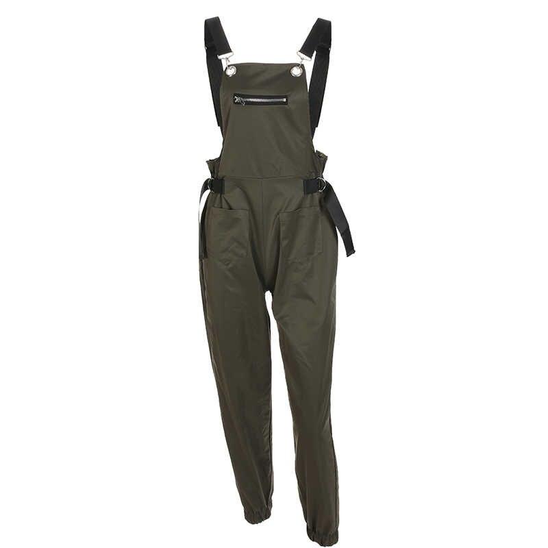 Свитшот черный длинный комбинезон женский синий уличный стиль комбинезон с панталонами Femme зеленый комбинезон комбинезоны хаки для женщин 2018
